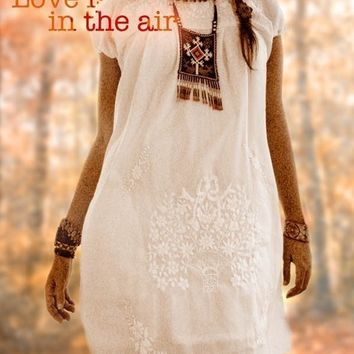 Peace Lover vintage embroidered Mexican dress hippie hip chic boho wedding dress fiesta white dress