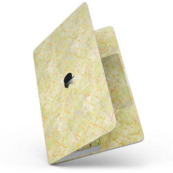 Yellow Watercolor Quatrefoil - MacBook Pro without Touch Bar Skin Kit