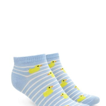Duck Striped Ankle Socks | Forever 21 - 2000220633