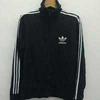 Vintage Adidas Trefoil Three Striped Track Top Trainer Sport 90s Hip Hop Swag Tommy Polo