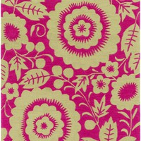 Skidaddle Floral and Paisley Area Rug Pink, Green