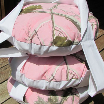 Realtree Pink Camo Hanging Cat Bed, Triple Kitty Cloud Cat Bed