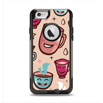 The Smiley Coffee Mugs Apple iPhone 6 Otterbox Commuter Case Skin Set