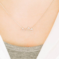 Mountain Dainty Necklace
