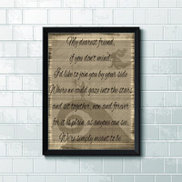 The Nightmare Before Christmas, Simply Meant To Be Lyrics - In Sizes Up To 11 X 14