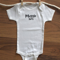 Harry Potter Onesuit, Muggle Born Onesuit, Muggle Born, Harry Potter Baby MORE COLORS