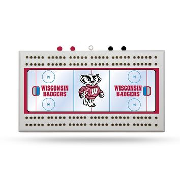 WISCONSIN HOCKEY RINK CRIBBAGE BOARD