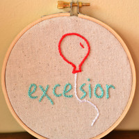 Silver Linings Playbook  Excelsior hand embroidered by MallyMoon