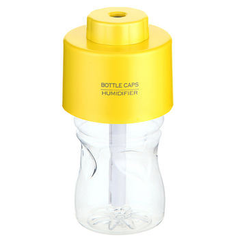Water Bottle Caps USB Portable Mini Humidifier Air Diffuser   yellow