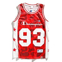 Champion X BAPE Trending Women Men Casual Hip-Hop Basketball Sleeveless Vest Top Red I13154-1