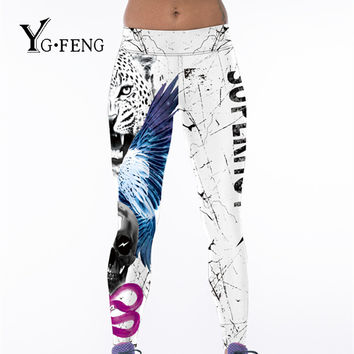YGFENG New 2017 Women 3D Digital Printed Leggings High Elastic Animal Pattern Casual Skinny Leggings Jeggings Fitness Leggins
