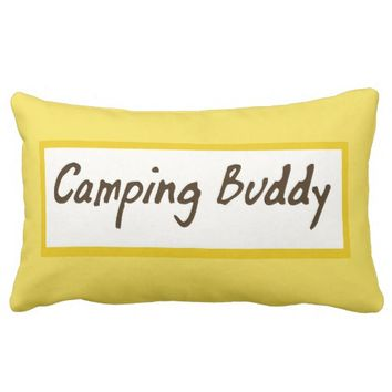 Yellow Lumbar Camping Buddy Pillow