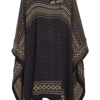 Paul & Joe | Berger patterned wool-blend poncho | NET-A-PORTER.COM
