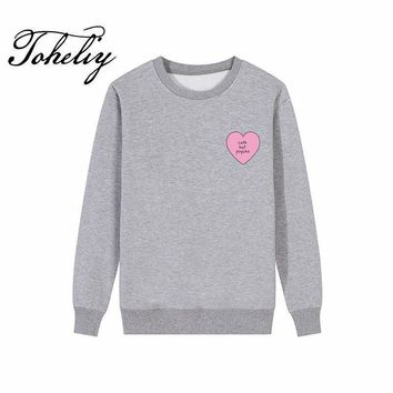 KPOP BTS Bangtan Boys Army  new Style Women Hoodies Sweatshirts Love pattern letters printing loose outwear round neck Hip-Hop girl Clothes thick Style AT_89_10