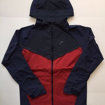 KUYOU Nike Windrunner Jacket Navy Burgundy 727349-673