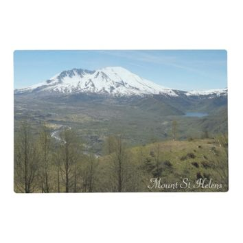 Mount St Helens Volcanic Landscape Photo Placemat