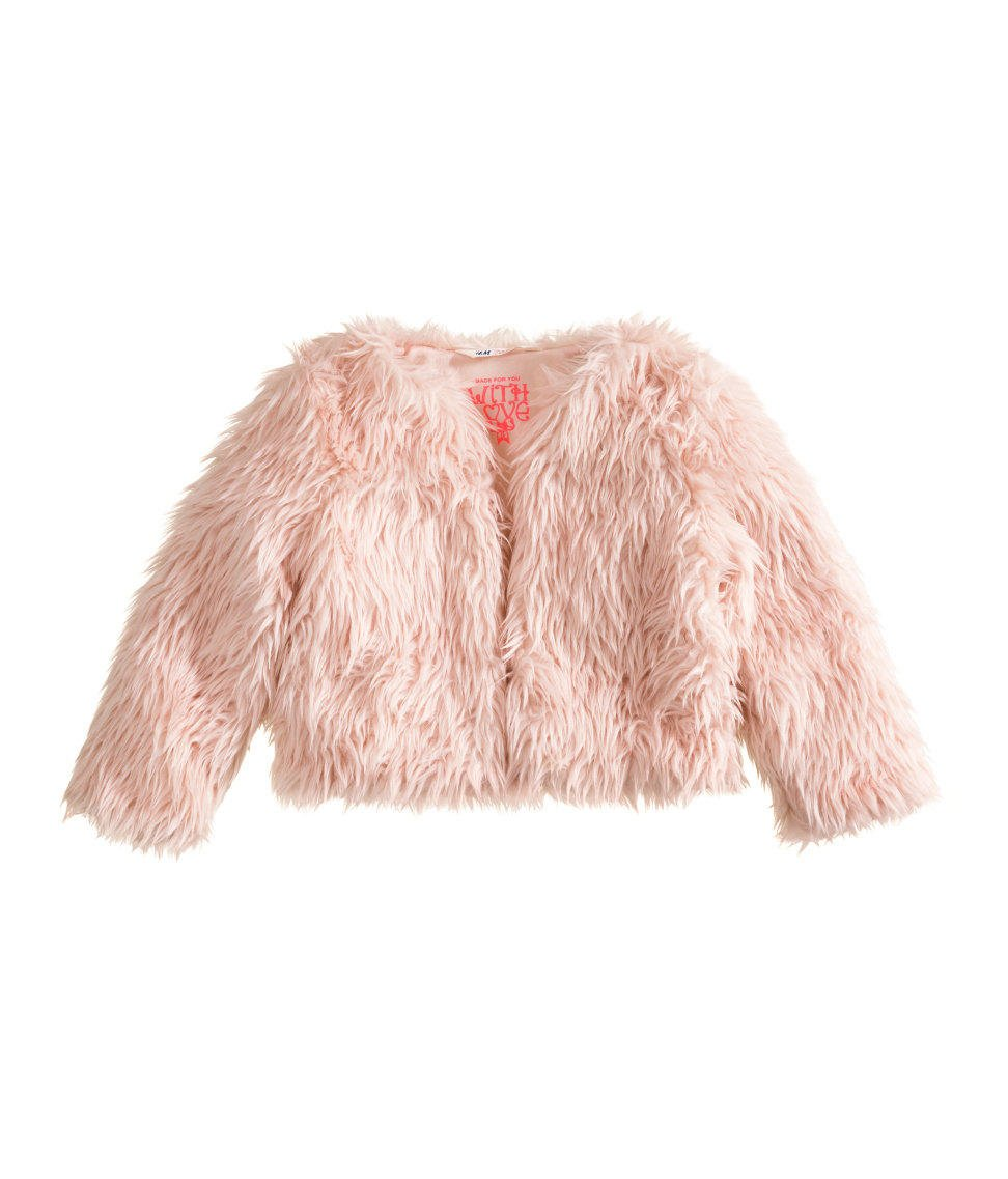 6943546a5f12f H M - Faux Fur Jacket - Light pink - Kids from H M