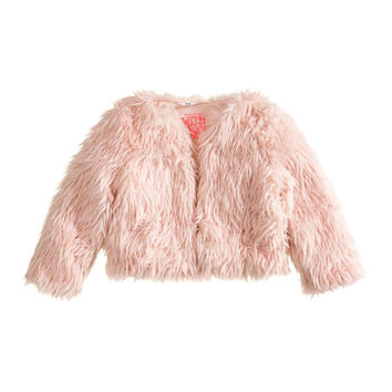 H&M - Faux Fur Jacket - Light pink - Kids
