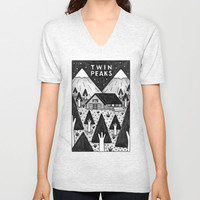 Twin Peaks Unisex V-Neck by Ana Albero | Society6