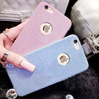 Flash Glitter TPU Cute Candy Case For iphone 7 Case For iphone7 6 6S Plus 5 5S SE Phone Cases Crystal Bling Soft Back Cover Capa -0316