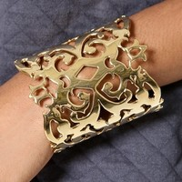Juicy Couture Gold Openwork Wide Cuff | SHOPBOP