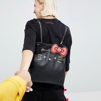 Hello Kitty X ASOS Face Embroidery Backpack at asos.com