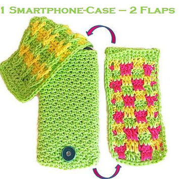 Smartphone Case / mobile phone pocket with changeable flaps, Samsung Galaxy S3, S4, S5 and Iphone 5