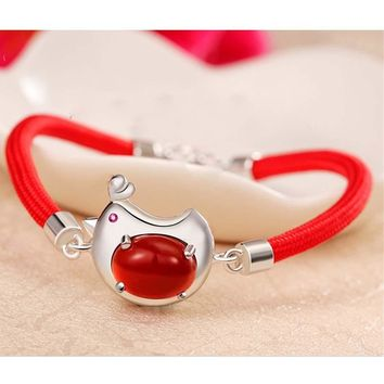 New Red String Bracelet Female Models Birthday Gift Stall Woven Hand Rope Jewelry for Girlfriend