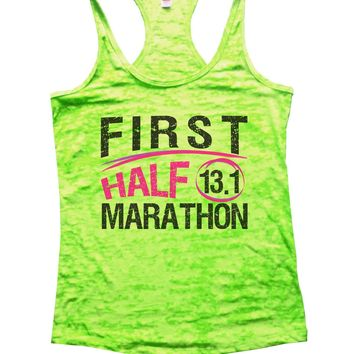 First Half 13.1 Marathon Burnout Tank Top By Funny Threadz