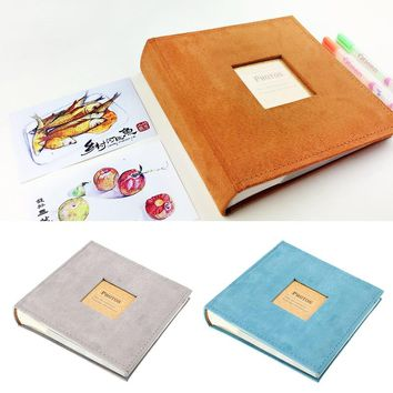 Holds 200 Photos 4R 6 Inch Paper Photo Album Family Baby Growth Record Memory Notebook Flannelette Cover Picture Storage Book