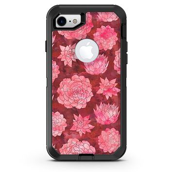 Red Floral Succulents - iPhone 7 or 8 OtterBox Case & Skin Kits