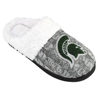 Michigan State Spartans Letter Slippers - Women's (Msu Gray)