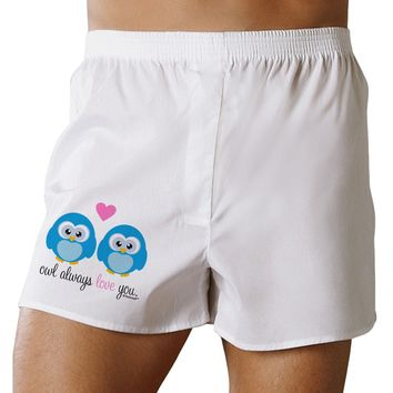 Owl Always Love You - Blue Owls Boxers Shorts by TooLoud