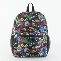 Marvel Comics All Over Print Black Backpack