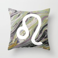 LEO Throw Pillow by KJ Designs