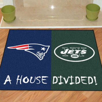 House Divided - Patriots / Jets House Divided Mat