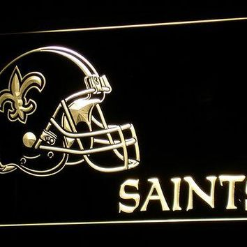 b328 New Orleans Saints Helmet Bar LED Neon Sign with On/Off Switch 20+ Colors 5 Sizes to choose