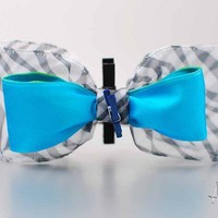 Blue Zebra Pin Board Bow from A Bow For Mama
