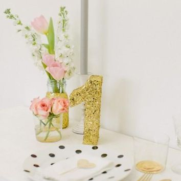 Glitter table numbers