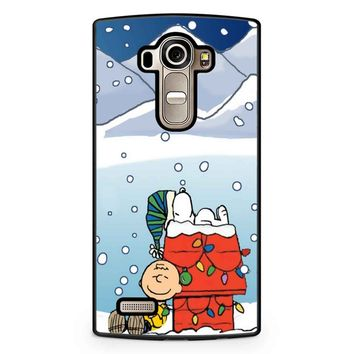 Charlie And Snoopy Brown Christmas LG G4 Case