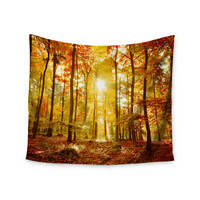 "Iris Lehnhardt ""Sun Flooded"" Yellow Orange Wall Tapestry"