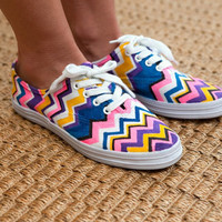 Handmade DIY Missoni Sneakers Flats Men Women One for One