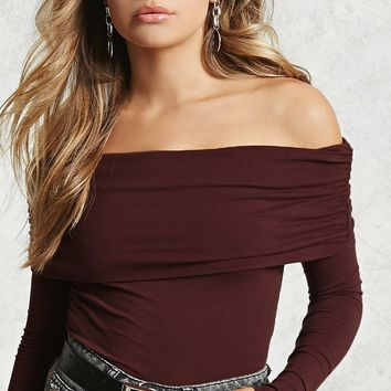 Contemporary Fold-Over Top - Women - Tops - 2000113387 - Forever 21 Canada English