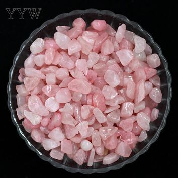 YYW Designer Jewelry Accessories Decoration 50G/Bag 9-12mm Natural Quartz Beads Chips Loose Nuggets No Hole Rose Stone Beads