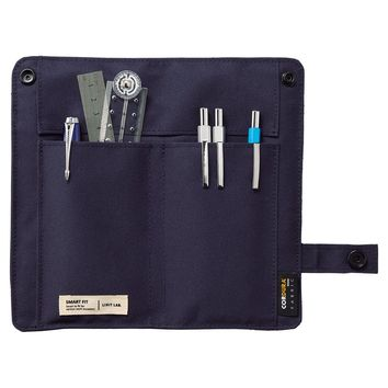 "LIHIT LAB. Slim Pen Case, Navy, 7.5 x 4.3"" (A7585-11)"