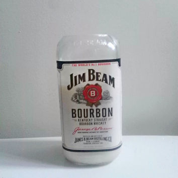 Jim Beam Kentucky Bourbon Repurposed Bottle All Natural Soy Candle