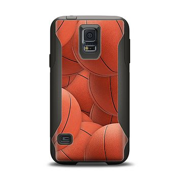 The Basketball Overlay Samsung Galaxy S5 Otterbox Commuter Case Skin Set