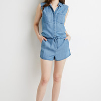 Chambray Pocket Romper