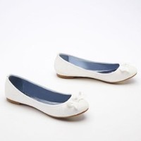 Wedding & Bridesmaid Shoes Ballet Flat with Bow Tie Detail Ivory, 5