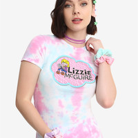 Her Universe Disney Channel Originals Lizzie McGuire Girls Tie Dye T-Shirt